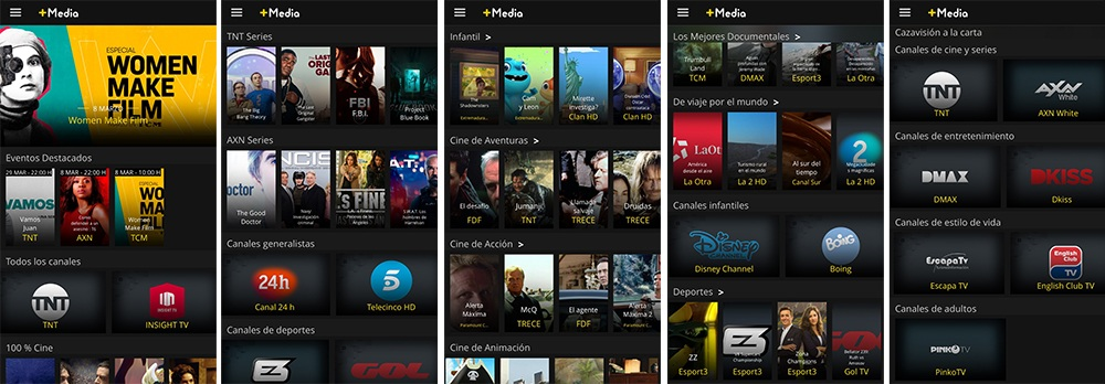 plataforma TV en streaming +Media en Mobilfree