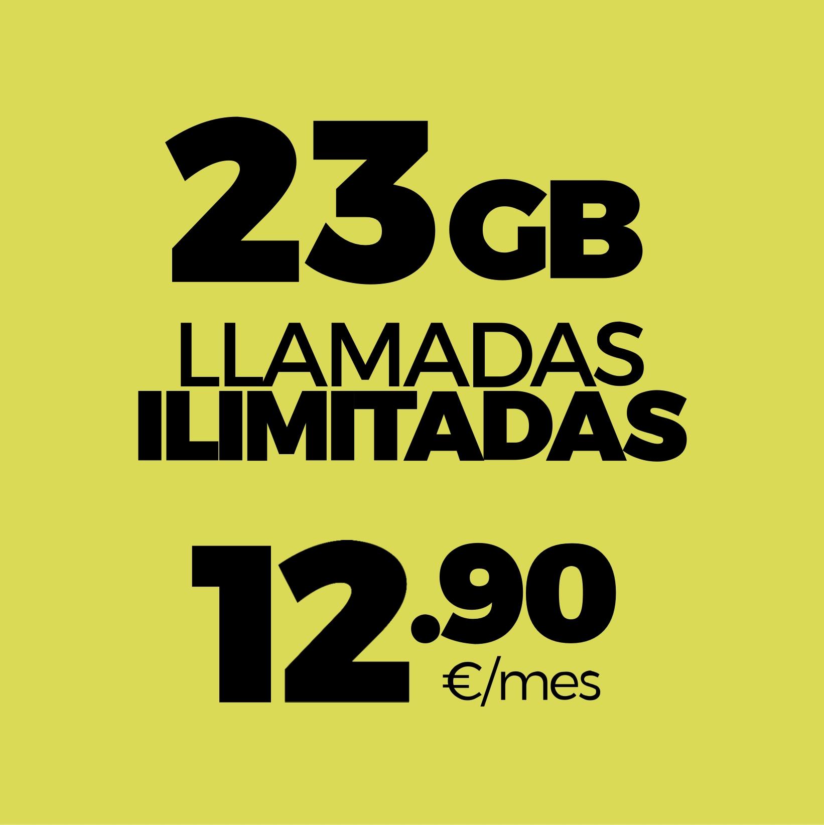 23GB y llamadas ilimitadas por 12,90 €
